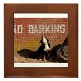 No Barking Framed Tile