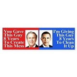 Pro Obama Bumper Sticker Bumper Sticker