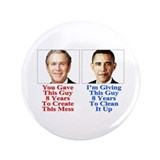 "Give Obama 8 Years 3.5"" Button"