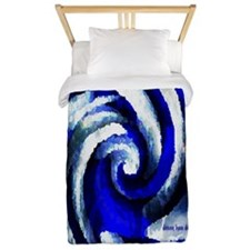 Mod Blue Swirl Twin Duvet
