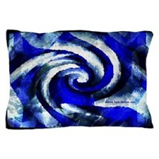 Mod Blue Swirl Pillow Case
