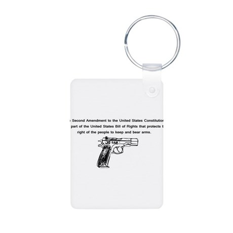 The Second Amendment Aluminum Photo Keychain