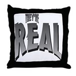 They're Real Throw Pillow