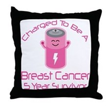 Breast Cancer 5 Year Survivor Throw Pillow