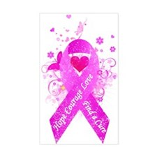 Pink Ribbon Vintage Stickers