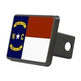 North Carolina United States Flag Rectangular Hitc