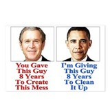Give Obama 8 Years Postcards (Package of 8)