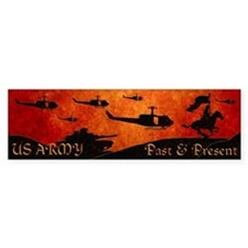 Harvest Moons Army Past & Present Bumper Sticker