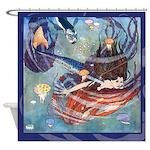 Edmund Dulac Little Mermaid Shower Curtain