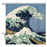 Katsushika HOKUSAI WAVE Shower Curtain