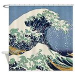 Katsushika Hokusai Wave Shower Curtain