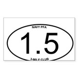 Navy PFA 1.5 Mile 3-Mile Club Member Decal