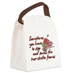 Two-Stroke Roses Canvas Lunch Bag