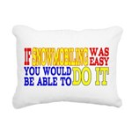 Easy Snowmobiling Rectangular Canvas Pillow