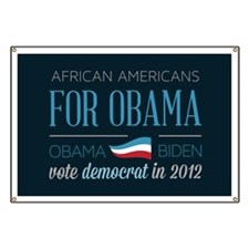 African Americans For Obama Banner