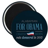"Alabamian For Obama 2.25"" Magnet (10 pack)"