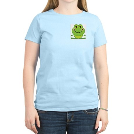 Simple Frog: Women's Pink T-Shirt