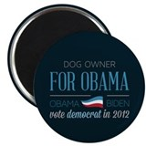 "Dog Owner For Obama 2.25"" Magnet (100 pack)"