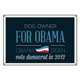 Dog Owner For Obama Banner