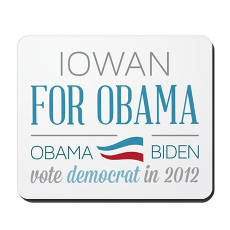 Iowan For Obama Mousepad
