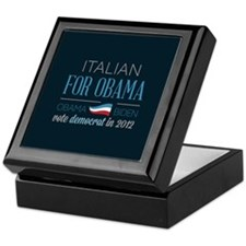 Italian For Obama Keepsake Box
