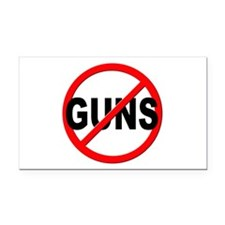 Anti / No Guns Rectangle Car Magnet