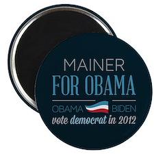 """Mainer For Obama 2.25"""" Magnet (10 pack)"""