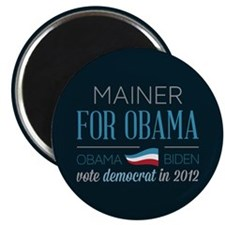"Mainer For Obama 2.25"" Magnet (100 pack)"
