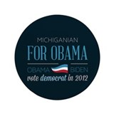 "Michiganian For Obama 3.5"" Button (100 pack)"