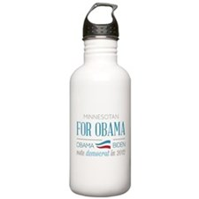 Minnesotan For Obama Water Bottle