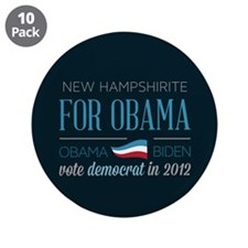 "New Hampshirite For Obama 3.5"" Button (10 pack)"