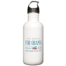 New Jerseyan For Obama Water Bottle