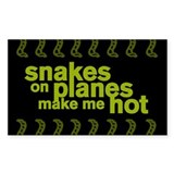 Snakes Make Me Hot Rectangle Decal