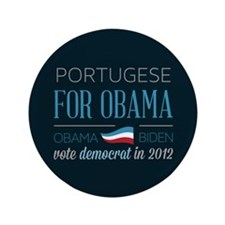 "Portugese For Obama 3.5"" Button (100 pack)"