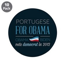"Portugese For Obama 3.5"" Button (10 pack)"