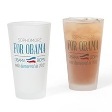 Sophomore For Obama.png Drinking Glass