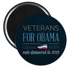 "Veterans For Obama 2.25"" Magnet (10 pack)"