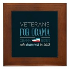 Veterans For Obama Framed Tile