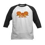 Halloween Pumpkin Katie Kids Baseball Jersey
