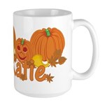 Halloween Pumpkin Katie Large Mug