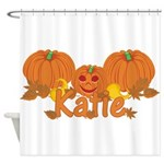 Halloween Pumpkin Katie Shower Curtain