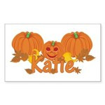 Halloween Pumpkin Katie Sticker (Rectangle)