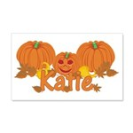 Halloween Pumpkin Katie 20x12 Wall Decal