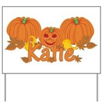 Halloween Pumpkin Katie Yard Sign