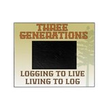 Three Generations Logging Photo Frame