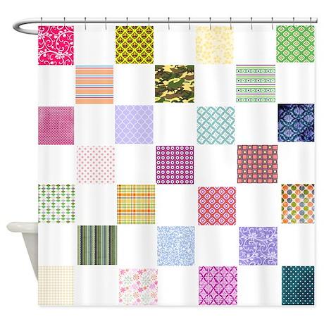Cat Crazy Quilt Art Shower Curtain by HeatherGallerArt