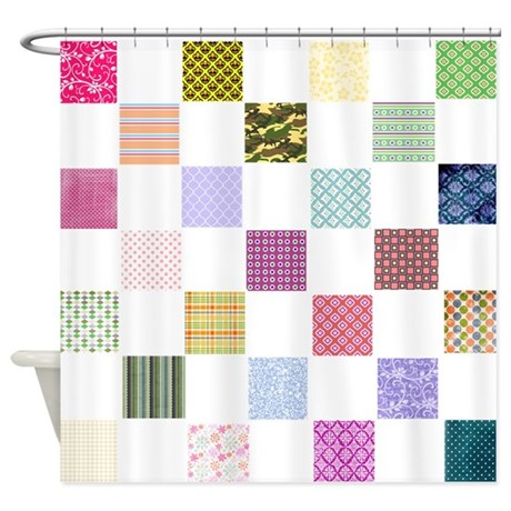 PATTERN FOR QUILTED SHOWER CURTAIN