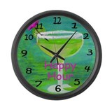 Margarita Happy Hour Large Wall Clock