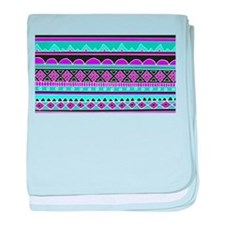 Blue and Purple Tribal Pattern baby blanket