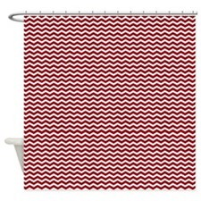 Red Zig zag Shower Curtain